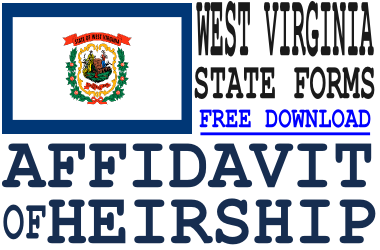 West Virginia Affidavit of Heirship Form