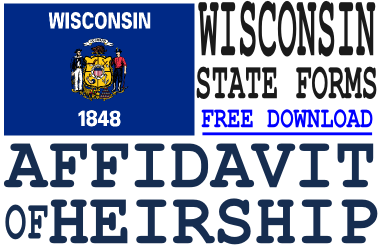 Wisconsin Affidavit of Heirship Form